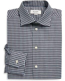 Regular-fit Gingham Linen Blend Shirt