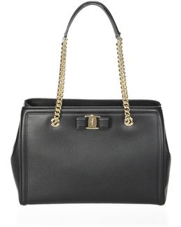 Vara Score Melike Leather Tote