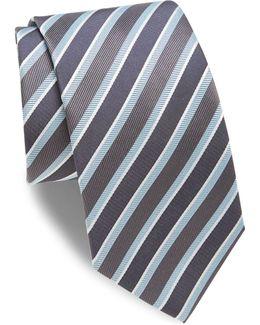 Mixed Striped Silk Tie