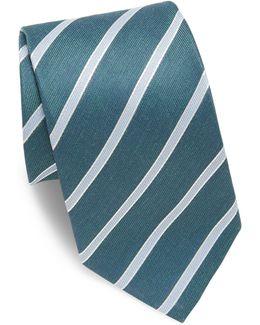 Striped Linen & Silk Tie
