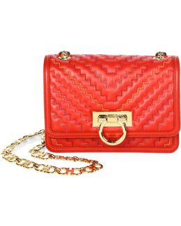 Capsule Zigzag Small Leather Shoulder Bag