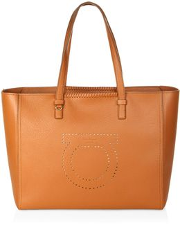 Gancio Mood Marta Pebbled Leather Tote