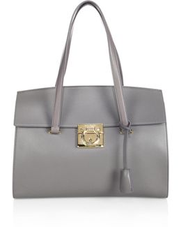 Lock Story Medium Marta Leather Tote