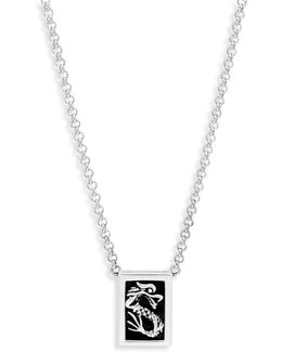 Naga Sterling Silver & Black Onyx Pendant Necklace