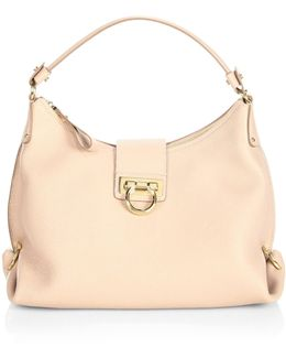 Mediterraneo Vitello Small Fanisa Leather Hobo