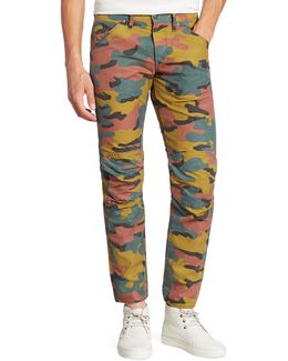 Straight-fit Camo Printed Jeans