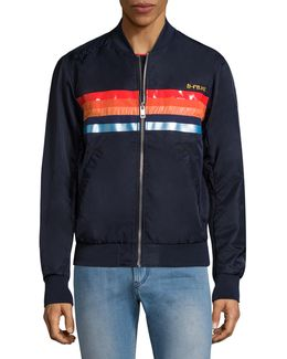 Slater Striped Bomber Jacket