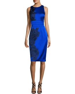 Satin Royal Bodycon Dress