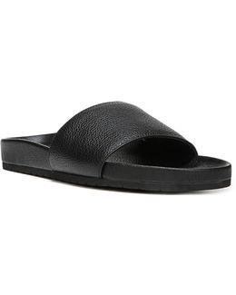 Gavin Leather Pool Slides
