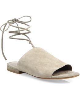 Damon Suede Ankle-tie Slides