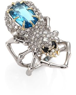 Elements Crystal-encrusted Spider Cocktail Ring