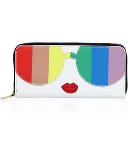 Rainbow Printed Leather Wallet