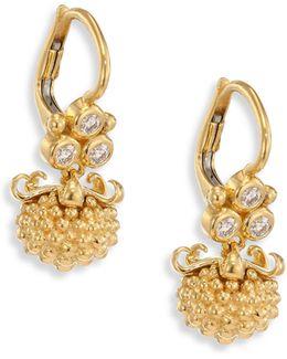 Mini Pod Diamond & 18k Yellow Gold Earrings