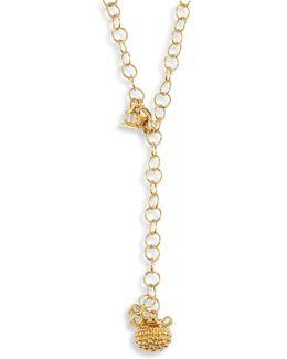Mini Pod Diamond & 18k Yellow Gold Pendant Necklace
