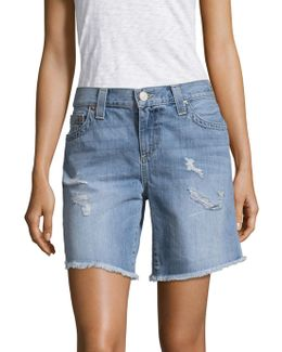 Jayde Distressed Bermuda Shorts
