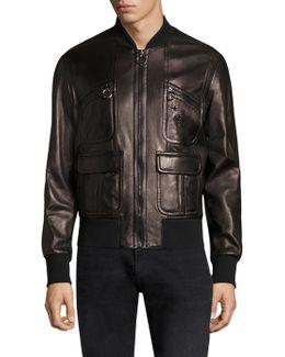 Soft Vintage Lambskin Bomber Jacket