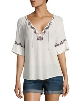 Chessa Embroidered Blouse