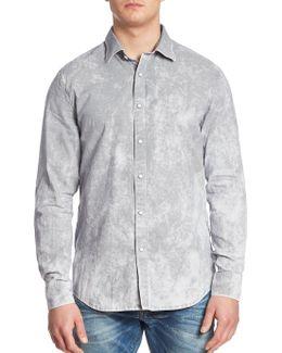 Landoh Oxford Printed Slim-fit Shirt