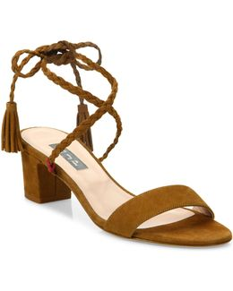 Elope Suede Lace-up Sandals
