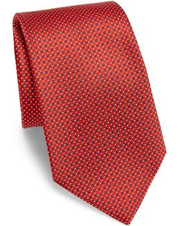 Connected Dot Silk Tie