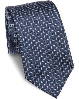 Dot Printed Silk Tie