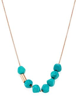 Fallen Sky Turquoise & 18k Rose Gold Necklace