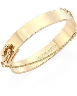 Medium Safety Chain Cuff/goldtone