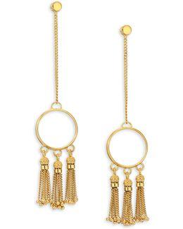 Lynn Chain Fringe Drop Earrings