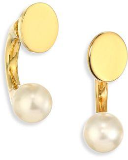 Darcey Faux-pearl Ear Jacket & Stud Earrings Set