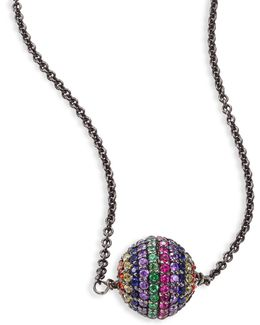 Rainbow Bead Pendant Necklace
