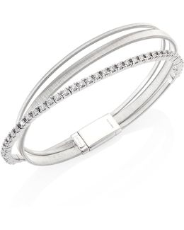 Masai Diamond & 18k White Gold Three-row Bracelet