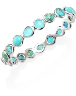 925 Rock Candy Wonderland All Around Turquoise Hinged Bangle