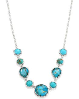 925 Rock Candy Turquoise Five-stone Necklace