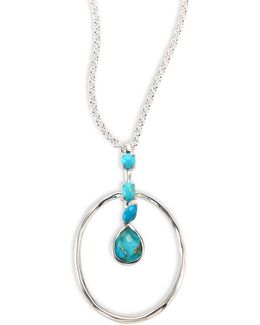 925 Rock Candy Turquoise Pendant Necklace