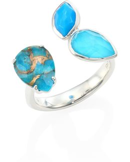 925 Rock Candy Turquoise Open Ring