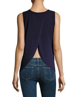 Solid Open Back Tank Top
