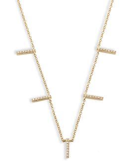5-bar Diamond & 14k Yellow Gold Necklace