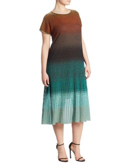 Giove Bicolor Knit Dress