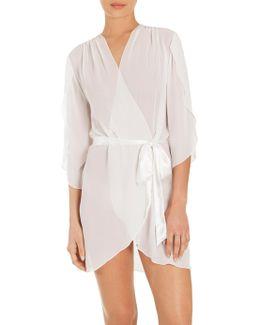 Summer Chiffon Short Wrap Robe
