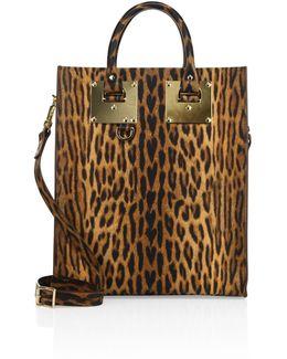Albion Leopard-printed Leather Mini Tote
