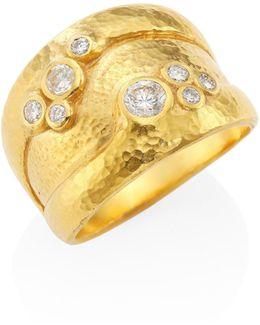 Pointelle Diamond & 22-24k Yellow Gold Ring