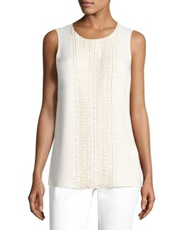 Gio Beaded Silk Double Georgette Blouse