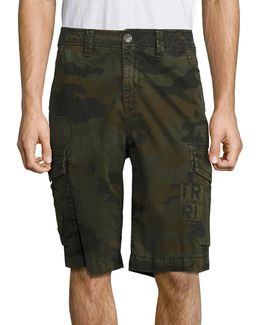 Trooper Patch Camouflage Printed Shorts