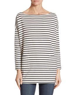 Everyday Striped Bateau Top