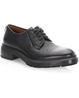 Tucker Text Leather Oxfords