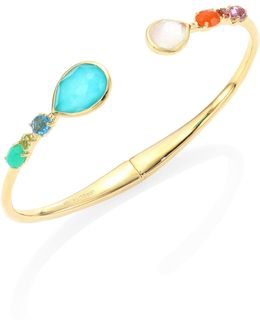 18k Rock Candy Semi-precious Multi-stone Bangle