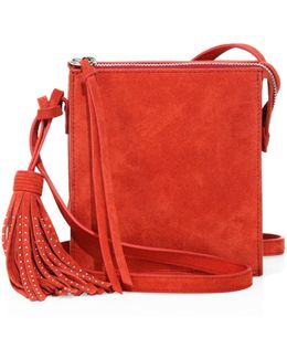 Sara Suede Crossbody Bag