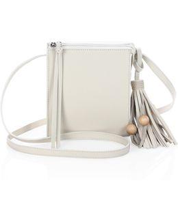 Sara Tassel Leather Crossbody Bag