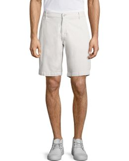 Cotton Blend Chino Shorts