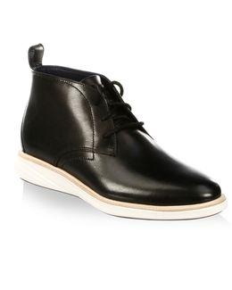 Grandevolution Round Toe Leather Chukka Boots